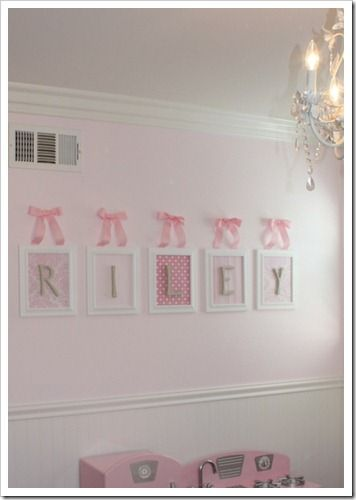 I Have Received So Many Lovely Emails About My Daughter S Name In Her Pink Bedroom Of You Asked If Bought Them On Etsy Tho Kids Room