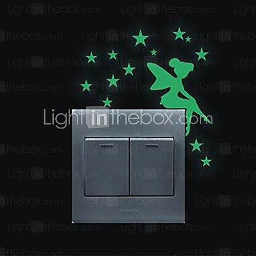 DIY Luminous Stickers Super Bright Glow in the Dark Switch Sticker Wall Decor 2017 - £1.75