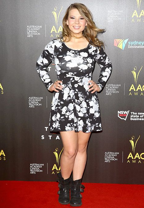 Bindi Irwin arrives at the 3rd Annual AACTA Awards Ceremony at The Star on January 30, 2014 in Sydney, Australia.