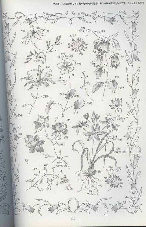 Gallery.ru / Фото #1 - Embroidery of flowers. - bird-of-heart