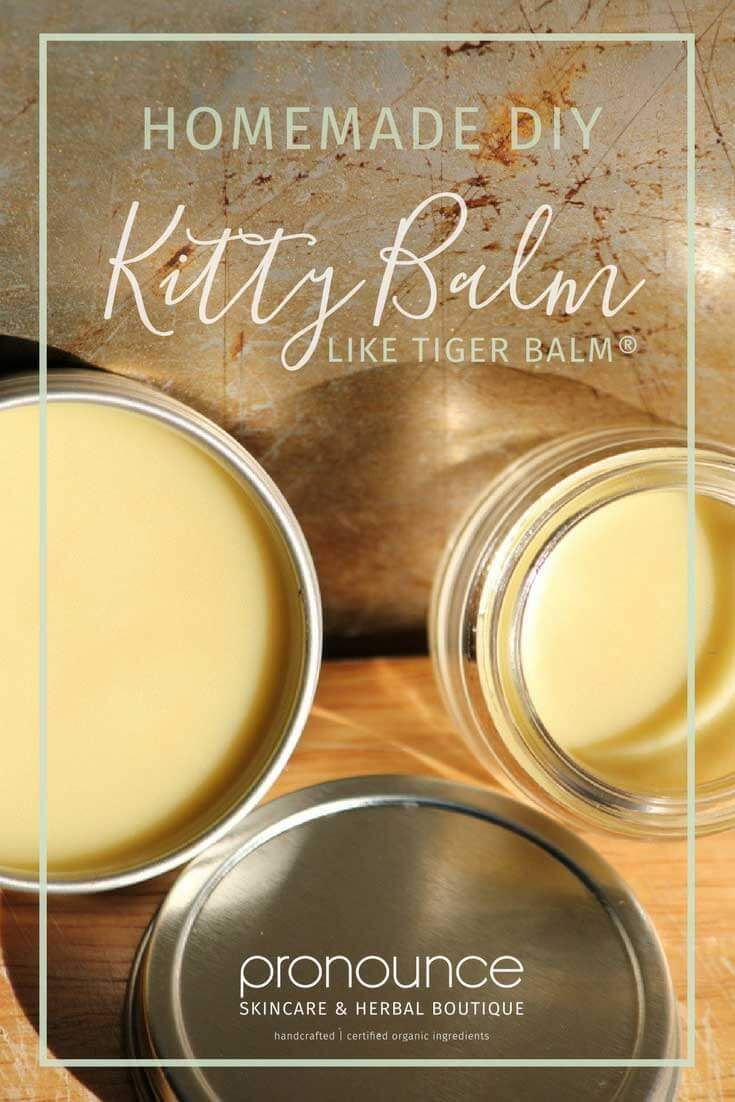 DIY 'Kitty Balm' Recipe (like Tiger Balm®️️️️) for sore muscles AND My New Kitchen Scale! • pronounceskincare.com
