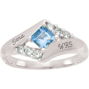 Keystone Girl's Square Fashion Class Ringthis is what i want for my class ring!