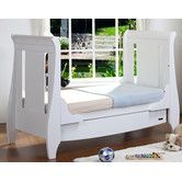 Found it at Wayfair.co.uk - Lucas Sleigh Dropside Cot Bed with Drawer in White