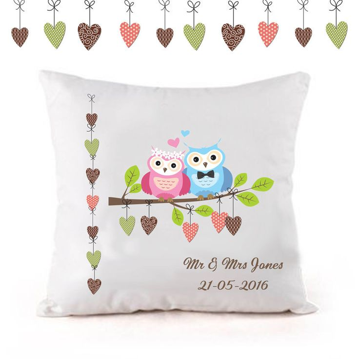 Personalised wedding cushion, Anniversary cushion, personalised wedding gift, unique gift, for the bride and groom by cjcprint on Etsy