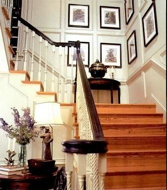 17 best images about country french charles faudree on for Georgian staircase design