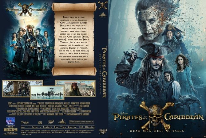 Pirates Of The Caribbean: Dead Men Tell No Tales (2017) DVD Custom Cover