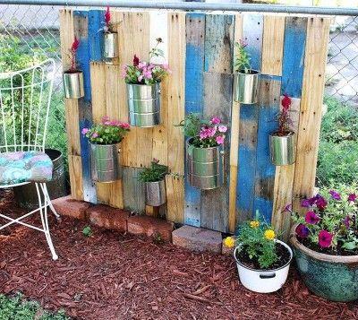 Comment faire un beau jardin avec des palettes jardins - Comment faire un jardin vertical ...