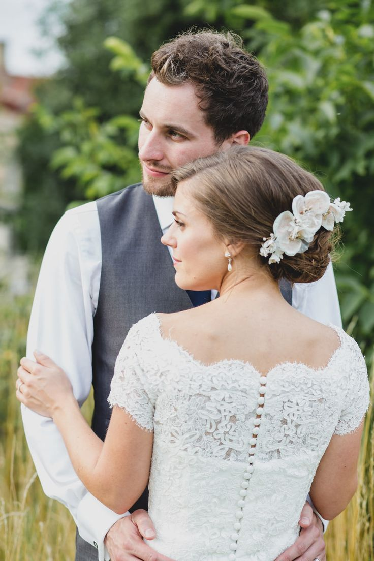 asian wedding photography east midlands%0A Narborough Hall Gardens wedding venue Norfolk with a lace Pronovias dress  and peach ASOS bridesmaid dresses by Rachel Blackwell Photography