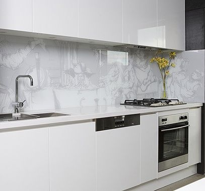 51 Best Glass Splashbacks Images On Pinterest Glass