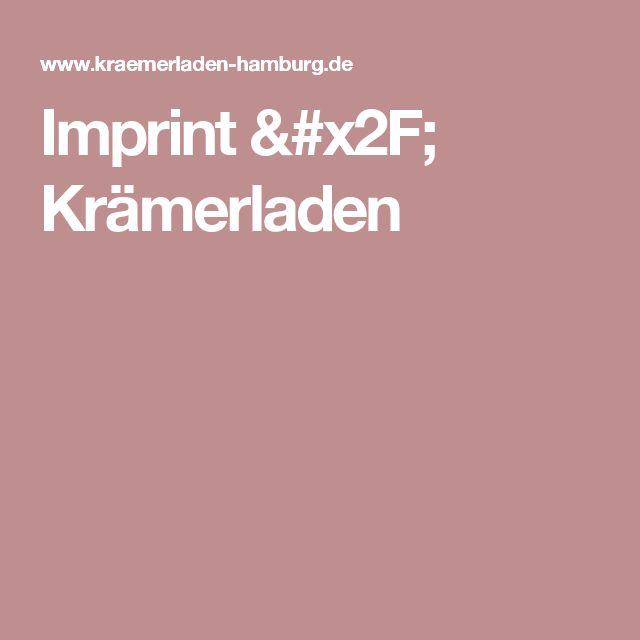 Imprint / Krämerladen