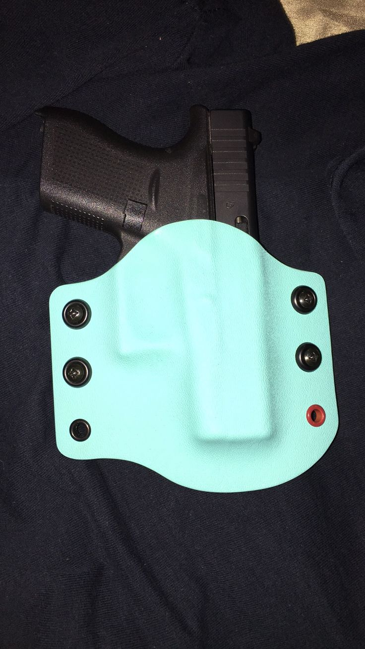 On Your 6 Designs Tiffany Blue Custom Kydex Holster for Glock 42. #OY6D #OWB