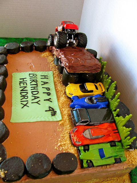 Monster Truck Rally Cake