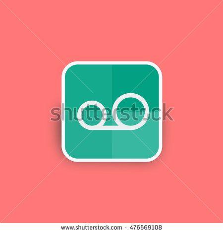 Film reel icon vector