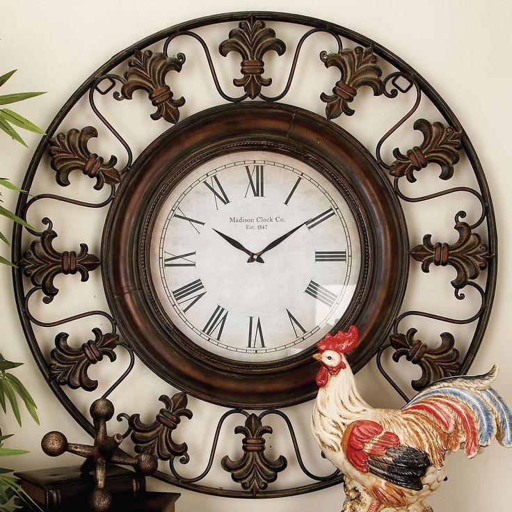 Reynolds Oversized 38 Quot Flower Wall Clock Clock Decor