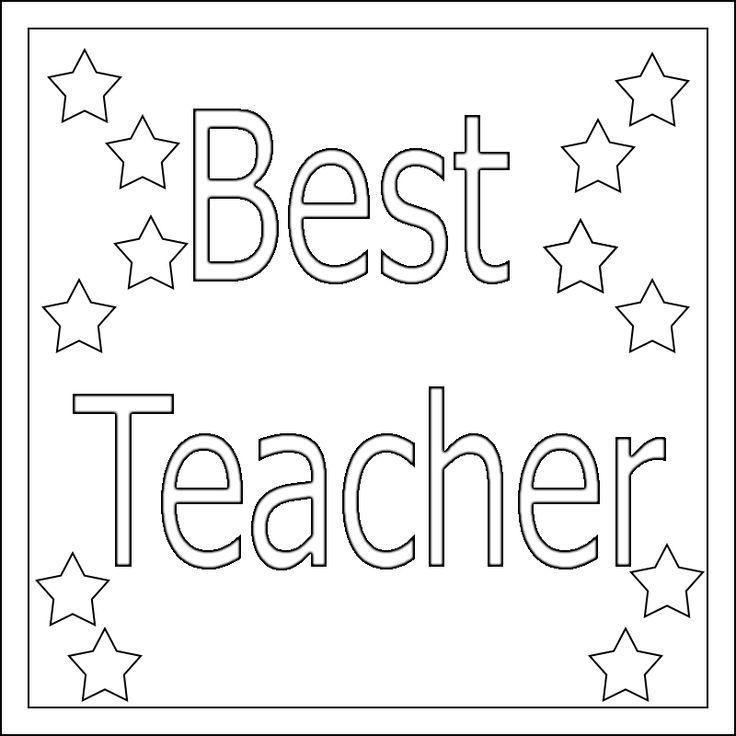Teacher Appreciation Coloring Pages Printable   Teacher ...