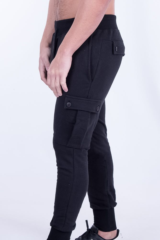 Black Military Cargo Joggers