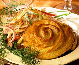 The English have relished meat baked in pastry since Shakespeare's day. This one…