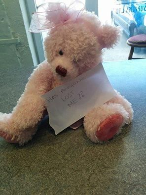Found on 02 Jun. 2016 @ Builth Wells. I believe this bear is lost because she is well looked after, was found near a car park. Hope we find the owner. Someone must be missing her. Visit: https://whiteboomerang.com/lostteddy/msg/78fu07 (Posted by Josh on 02 Jun. 2016)