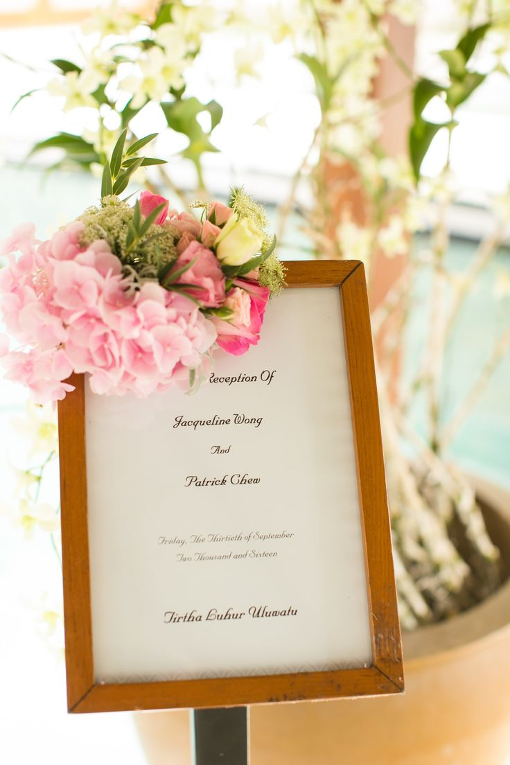 Welcome board with Romantic Frilled flowers