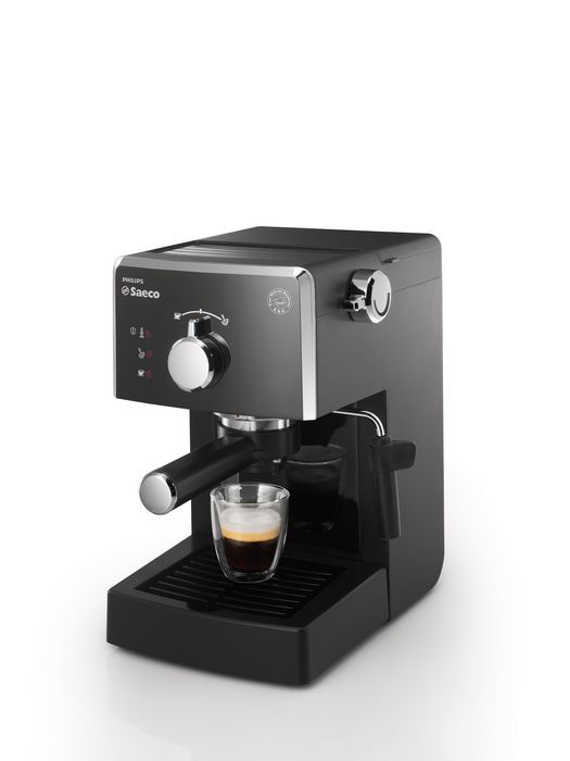 Black Plastic Automatic LED Display Removable 34 oz Water Tank Espresso Machine