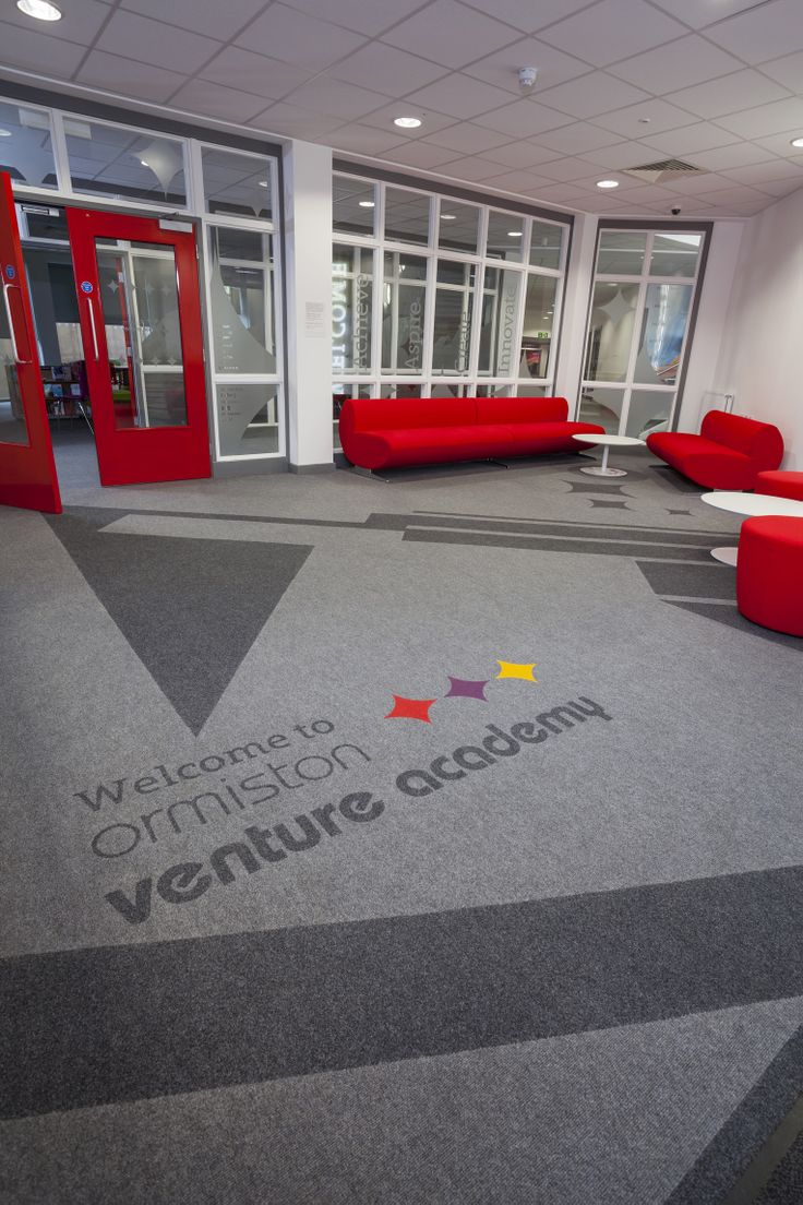 Ormiston Venture Academy in Norfolk has chosen Supacord carpet with inlaid bespoke logo mats to create a distinctive new identity