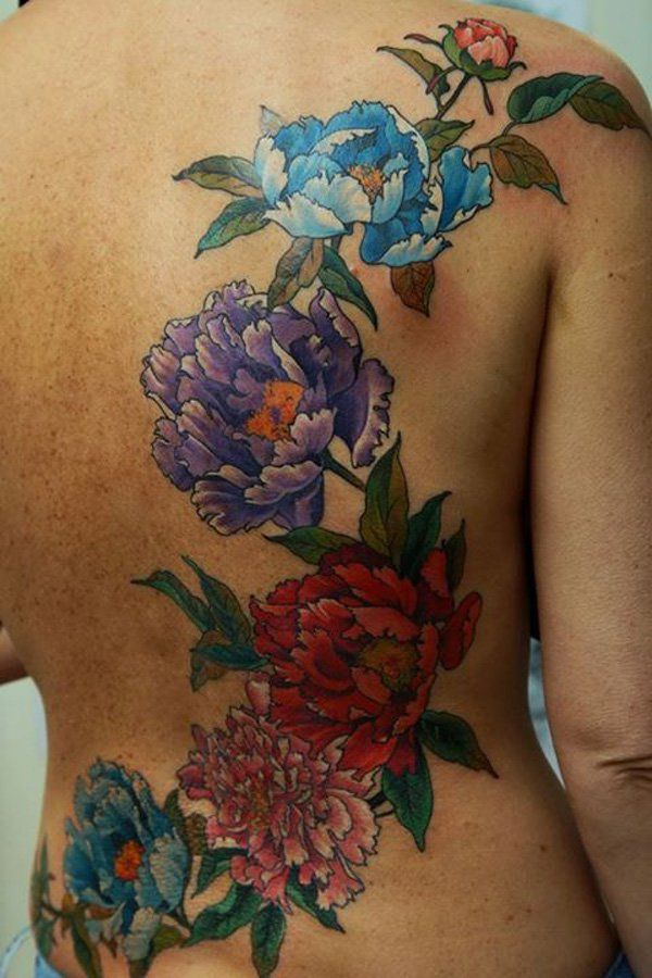 Colorful Tattoo on Back - 50+ Examples of Colorful Tattoos <3 <3