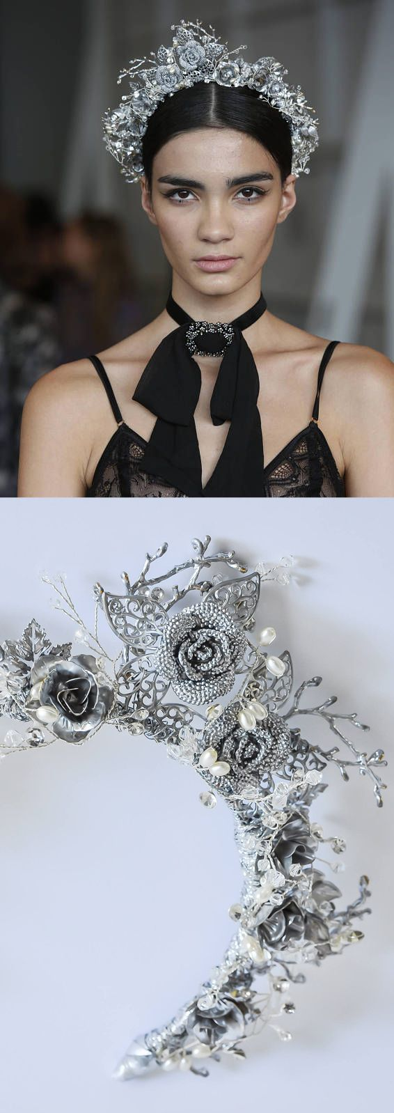 This beautifully complex crown features silver roses and crystal details, and is a superb choice for the modern-day bride, or racing fashion fashions on the field contestants. Handmade by Ashlee Lauren in South Australia. Bridal Crystal Crown, Bridal Halo Headband, Bridal Halo Crown, Crystal Hair Vine, Gold Tiara Headband, Boho Circlet. #wedding #fallwedding #winterwedding #bride #bridalwear #fashionsonthefield #millinery #bridalcrown #affiliatelink #bridalaccessories