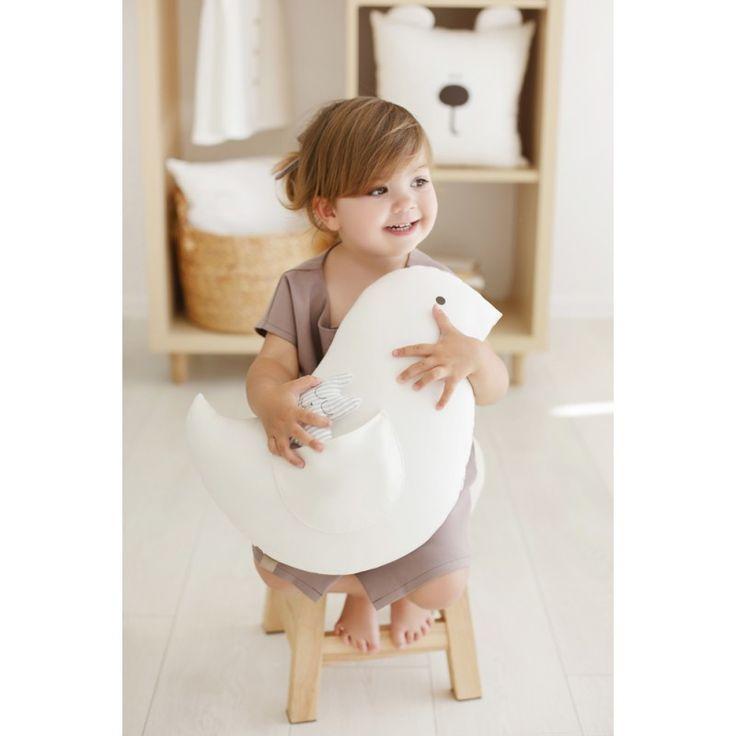 "Decorative pillow cushion cover ""Little white bird"""