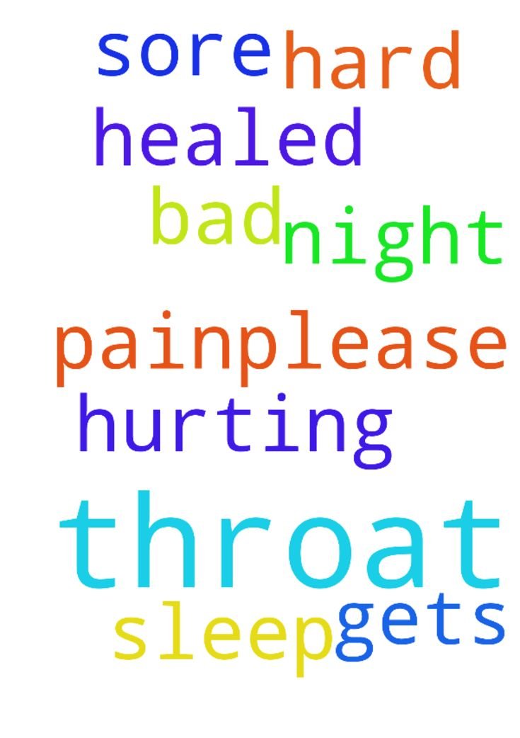 I have a bad sore throat -   My throat is hurting and Is hard to sleep at night because of the pain.�Please, pray it gets healed. Thank you all.�   Posted at: https://prayerrequest.com/t/4xX #pray #prayer #request #prayerrequest