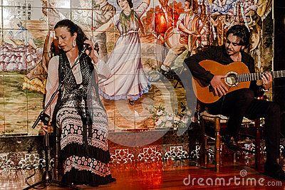 Flamenco dance show in the club in Madrid , Spain. Europe.