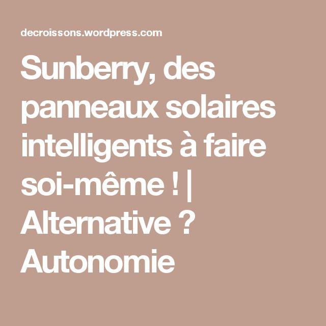 Sunberry, des panneaux solaires intelligents à faire soi-même !   Alternative ↺ Autonomie