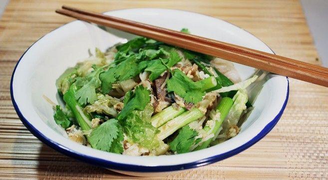 Lynstegte glasnudler // Rice noodles and eggs