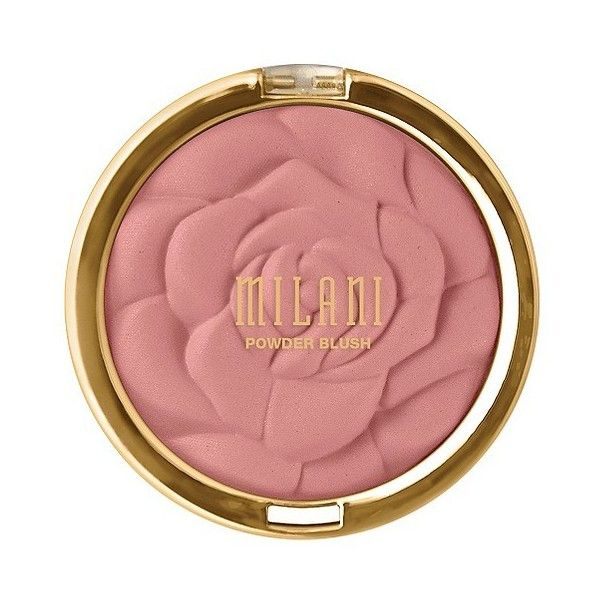 Milani Rose Powder Blush - Romantic Rosee found on Polyvore featuring beauty products, makeup, cheek makeup, blush, romantic rose, powder blush, rose blush and matte blush