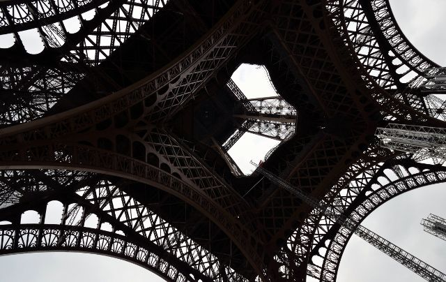 The Eiffel Tower from a different angle - underneath