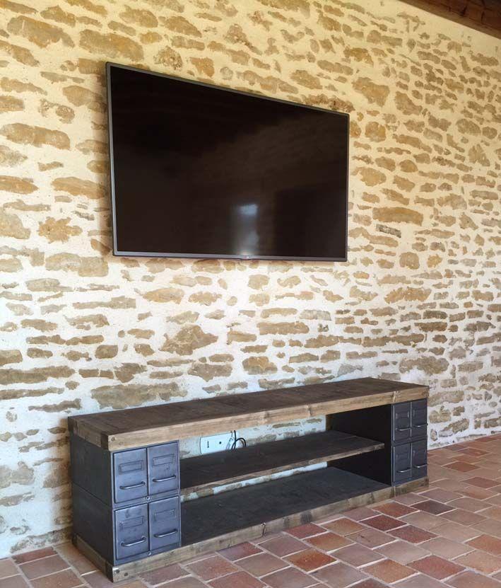 17 meilleures id es propos de meuble tv industriel sur - Meubles fabriques en france ...