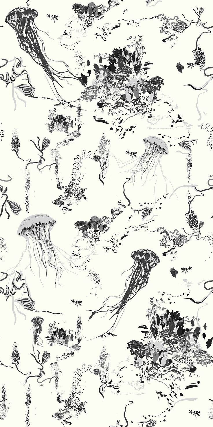 17 Patterns Jellyfish Ivory Wallpaper main image