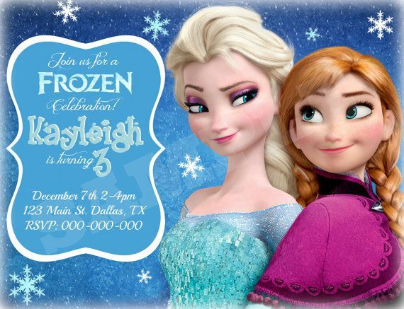 Best Frozen Ideas Images On Pinterest Frozen Party Frozen - Birthday invitation frozen theme