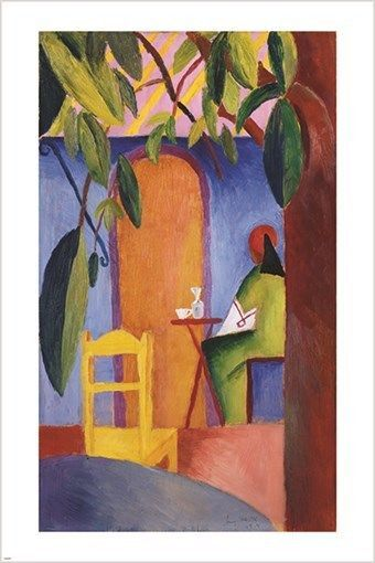 turkish cafe AUGUST MACKE vintage painting ART POSTER impressionist 24X36