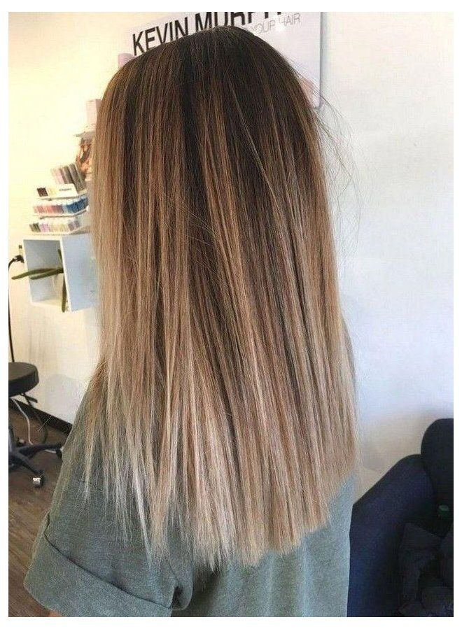 Light Brown Hair With Highlights Straight Brown And Blonde Hair Highlights 55 Ideas In 2020 Balayage Straight Hair Brown Hair Balayage Medium Length Hair Straight