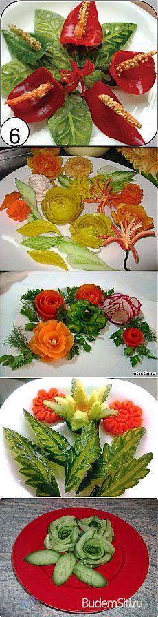 Красивое оформление овощных блюд.