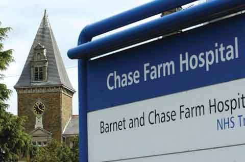 Chase Farm Hospital entrance