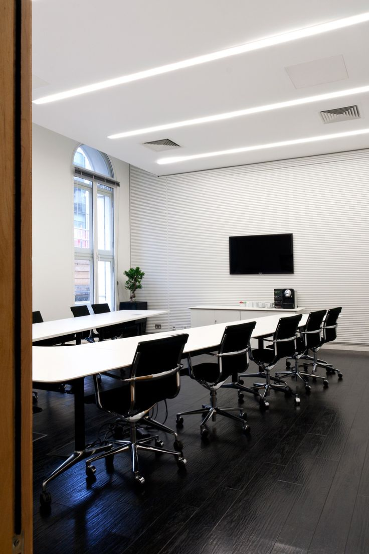 Acoustic products used: Acoustic slotted timber paneling. Installers: Southern Soundproofers Ltd.​ Photos supplied by client #acoustics #wood #office #design
