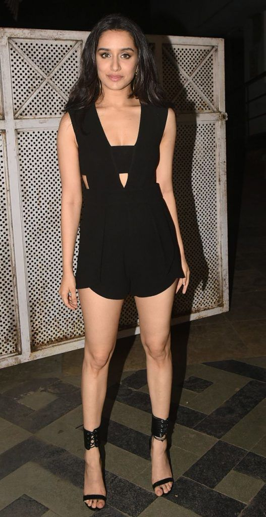 Shraddha Kapoor Wear Hot Black Dress During Stree Promotion Hot Sexy