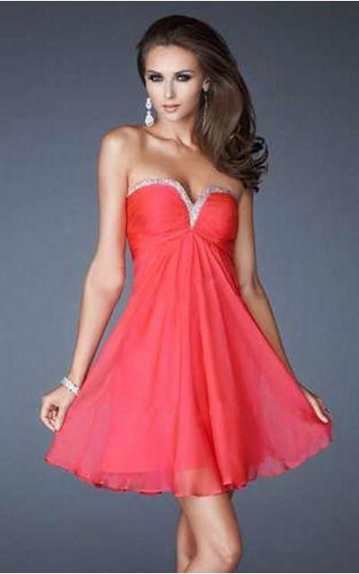Sweetheart Sleeveless A-line Zipper Short Formal Dresses afea7549