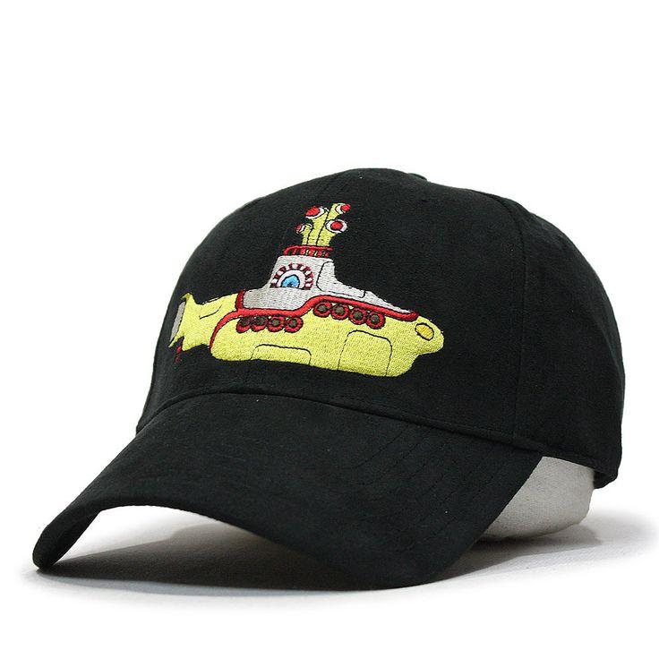 the classic yellow submarine adjustable baseball cap beatles hat