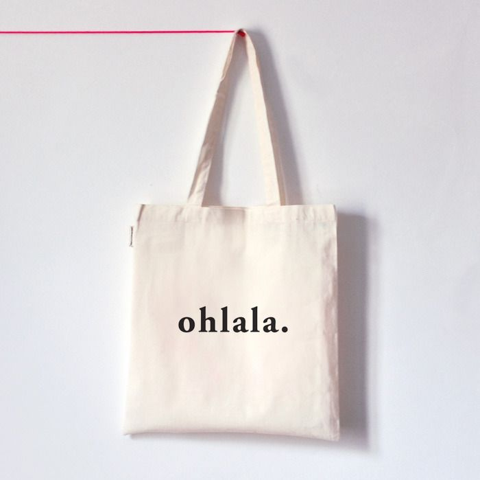 OHLALA . Tote bag typo