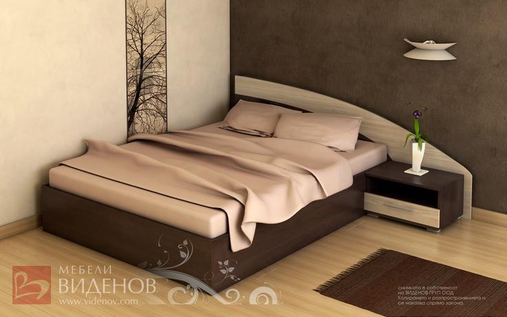 Ъглова спалня Петя с нощен шкаф (без вкл. матрак)