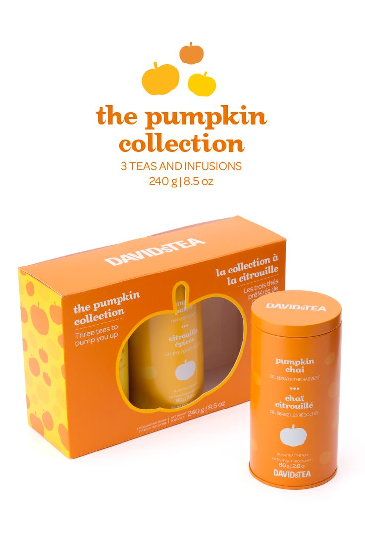 A collection of three pumpkin flavoured teas, in a limited edition box.