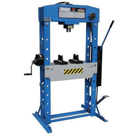 Presse hydraulique, puissance hydraulique 50T ,approche rapide et lente, commande au pied. PRP Machines vous propose une gamme d'outillage d'atelier,garage.
