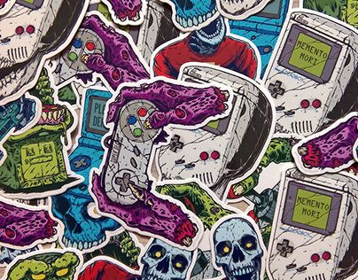 """Check out new work on my @Behance portfolio: """"Dead Gaming Vinyl Stickers Pack"""" http://be.net/gallery/43450513/Dead-Gaming-Vinyl-Stickers-Pack"""